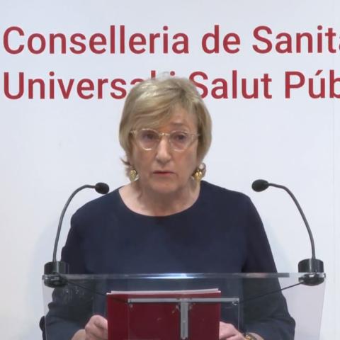 Ana Barceló a la roda de premsa d'aquest dissabte / Senyal de Conselleria