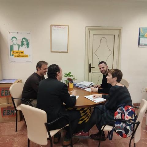 Reunió de treball de Comrpomís / Foto arxiu