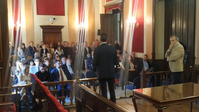 Recepció a l'Ajuntament d'Alcoi.