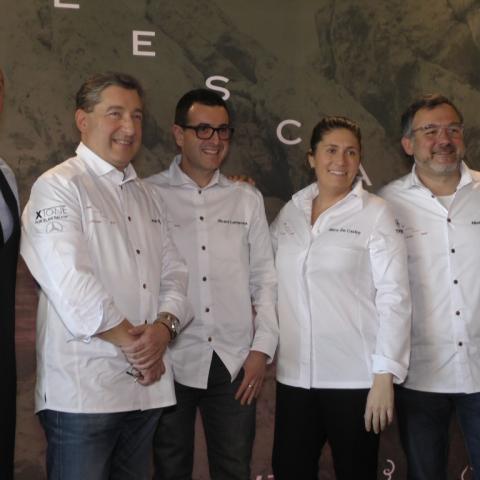 Constel·lació d'estreles Michelin per a celebrar els 40 anys de L'Escaleta