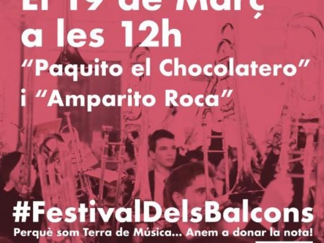 #FestivaldelsBalcons. Els músics valencians donen la nota al Coronavirus aquest 19 de març