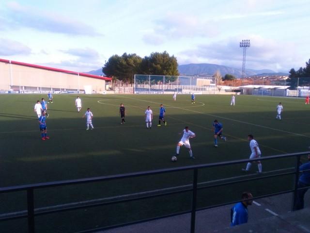 Partit de futbol al camp La Llometa de Muro.