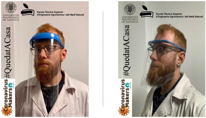 Exemple de mascareta de protecció creada pels grups de 'Coronavirus Makers'.