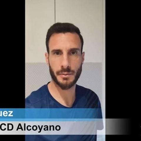 JonyÑíguez, jugador de l'Alcoyano, també es queda a casa pel Coronavirus #QuedatACasa