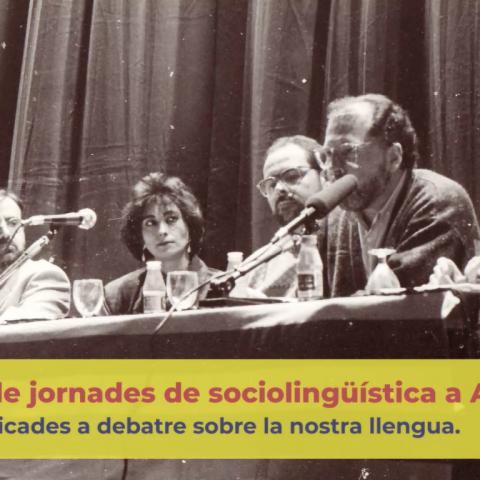 Les XXV Jornades de Sociolingüística d'Alcoi se celebren el 27 i 28 de març