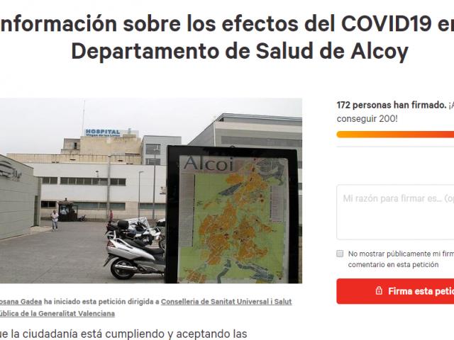 Demanen firmes perquè Sanitat informe sobre la incidència del Coronavirus en Alcoi