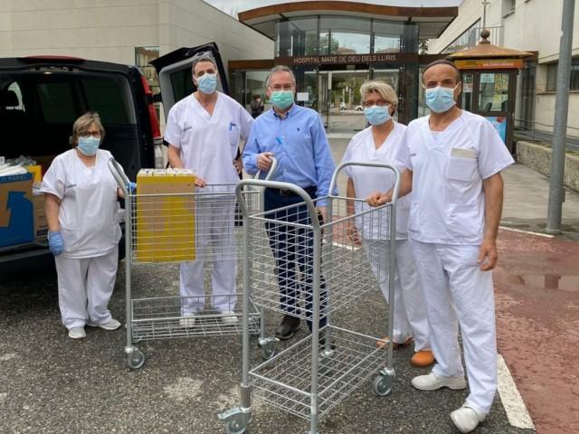Sanitaris a l'Hospital Verge dels Lliris.
