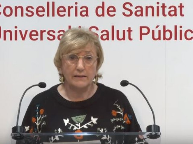 Ana Barceló en roda de premsa