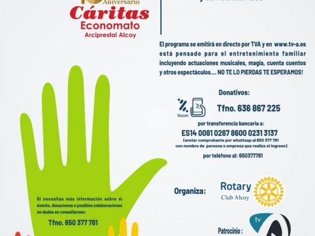 24 artistes participen enel tele-marató a benefici de Càritas Alcoi