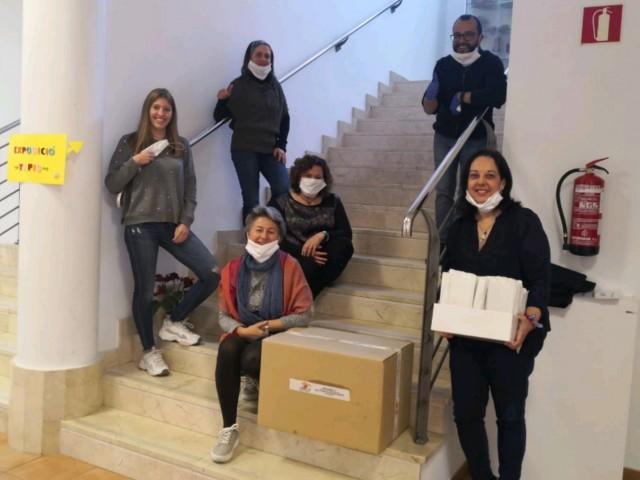 Mascaretes donades per l'empresa de Gaianes Jesús Gilabert a la Mancomunitat de Serveis Socials Mariola