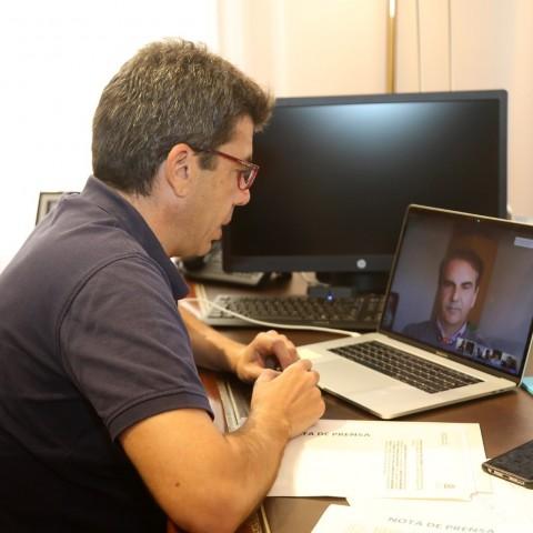 Carlos Mazón en videoconferencia / Diputació d'Alacant