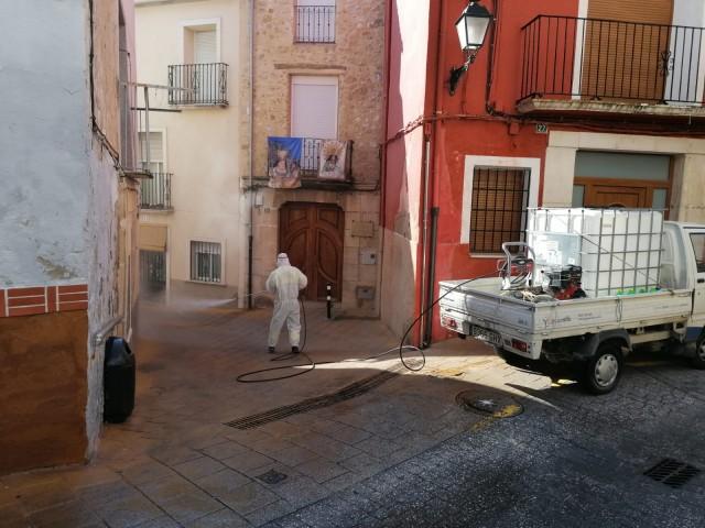Desinfecció de carrers a Muro