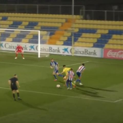 Imatge del directe oferit per Vila-Real CF