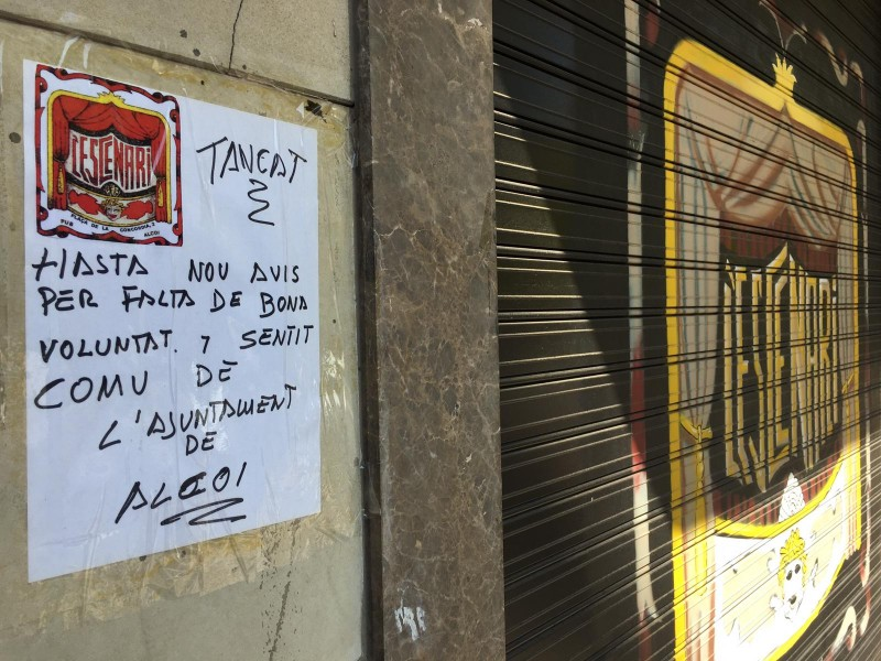 Imatge d'un pub d'Alcoi, recent