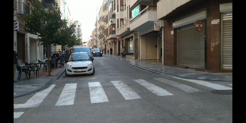 Imatge recent del carrer sant Llorens, al centre d'Alcoi / AM