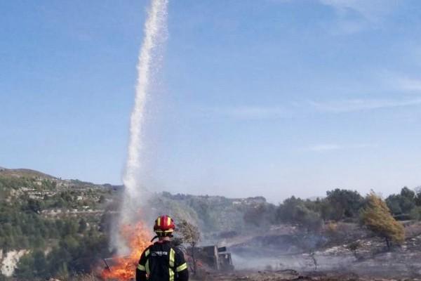 Una crema descontrolada provoca un incendi a Benilloba