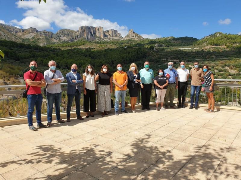 Presentació del Pla a l'Ajuntament de Benifato, amb presència de regidors dels 10 municipis afectats. També ha participat el contestà RafaBriet, subsecretari de la conselleria.