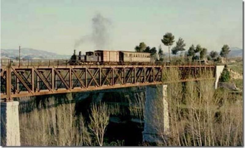 Imatge històrica del Pont de Ferro / Arxiu Tren Alcoi - Gandia