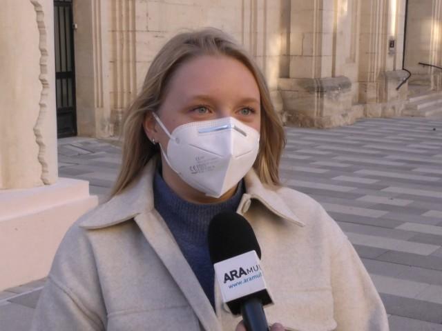Karina Santamaria durant l'entrevista amb AM