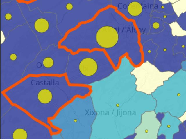 Mapa d'incidència / GVA
