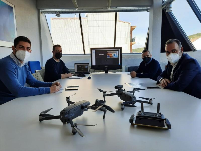 Nou equip policial amb drons. Imatge facilitada pel consistori.