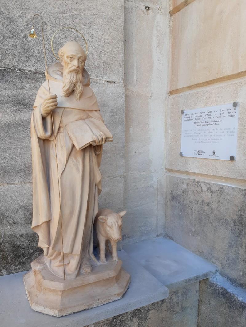 Imatge Sant Antoni Abat  al cementeri / Foto: Ajuntament d'Alcoi