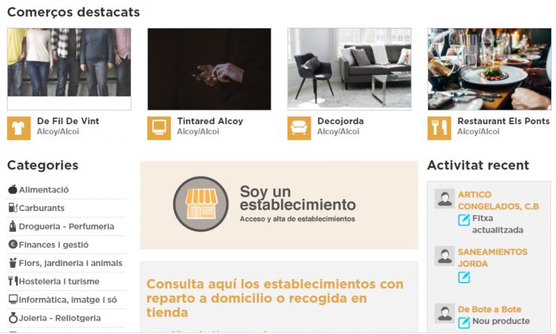 Web alcoi.comercioscomunitatvalenciana.com