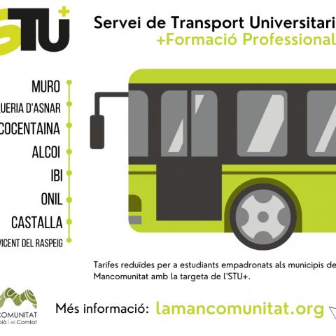 S'inicia l'STU+, el servei d'autobús universitari que ara també atén els estudiants de Formació Professional