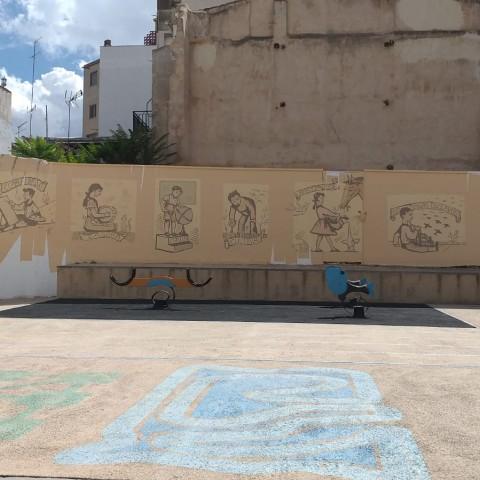 Un nou gran mural al Partidor d'Alcoi ens explica les bases de l'anarquia