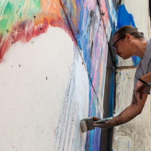 Un dels artistes d'Urban Skills aquesta setmana. Imatge via Ajutament d'Alcoi
