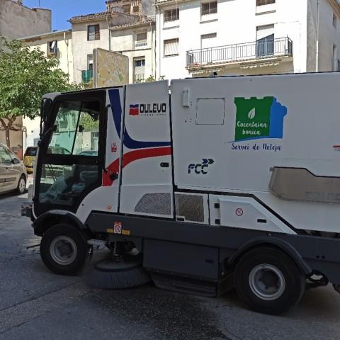 Un dels nous vehicles de neteja a Cocentaina