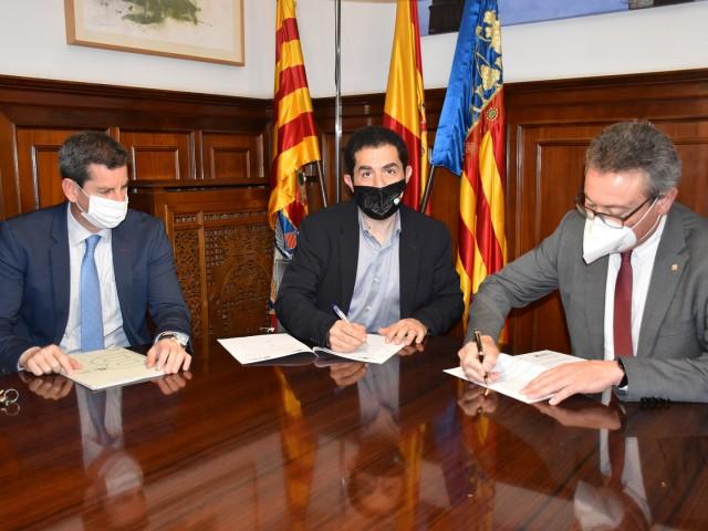 Signatura del conveni / Ajuntament