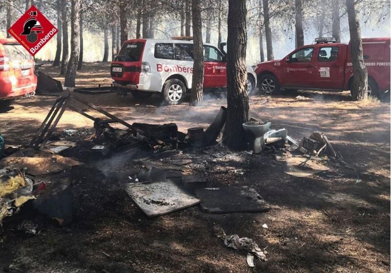 Imatge de l'incendi / Bombers
