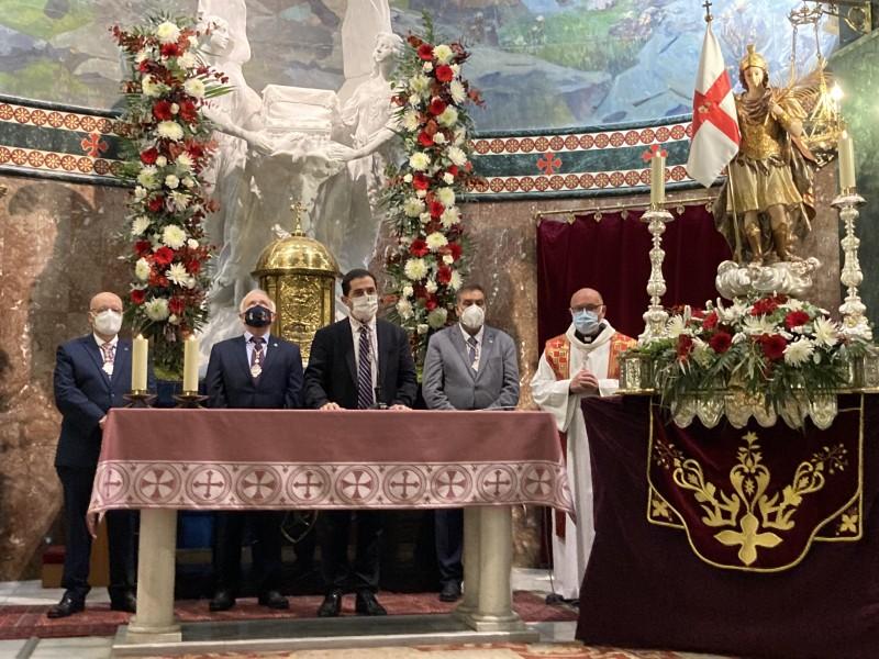 Acte solemne al temple de Sant Jordi