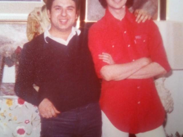 Pepito, en una imatge de jove amb Camilo Sesto.