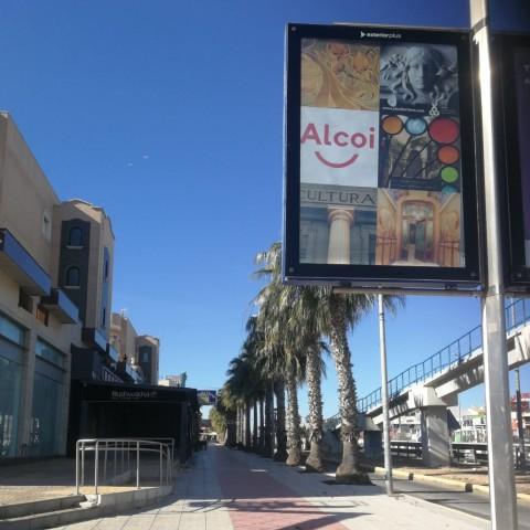 Publicitat d'Alcoi a altres municipis.