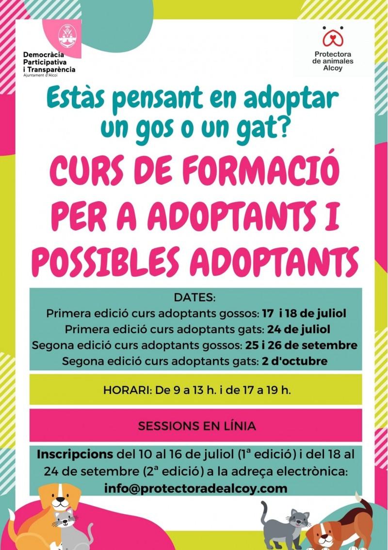 Cartell curs formació per a adoptants