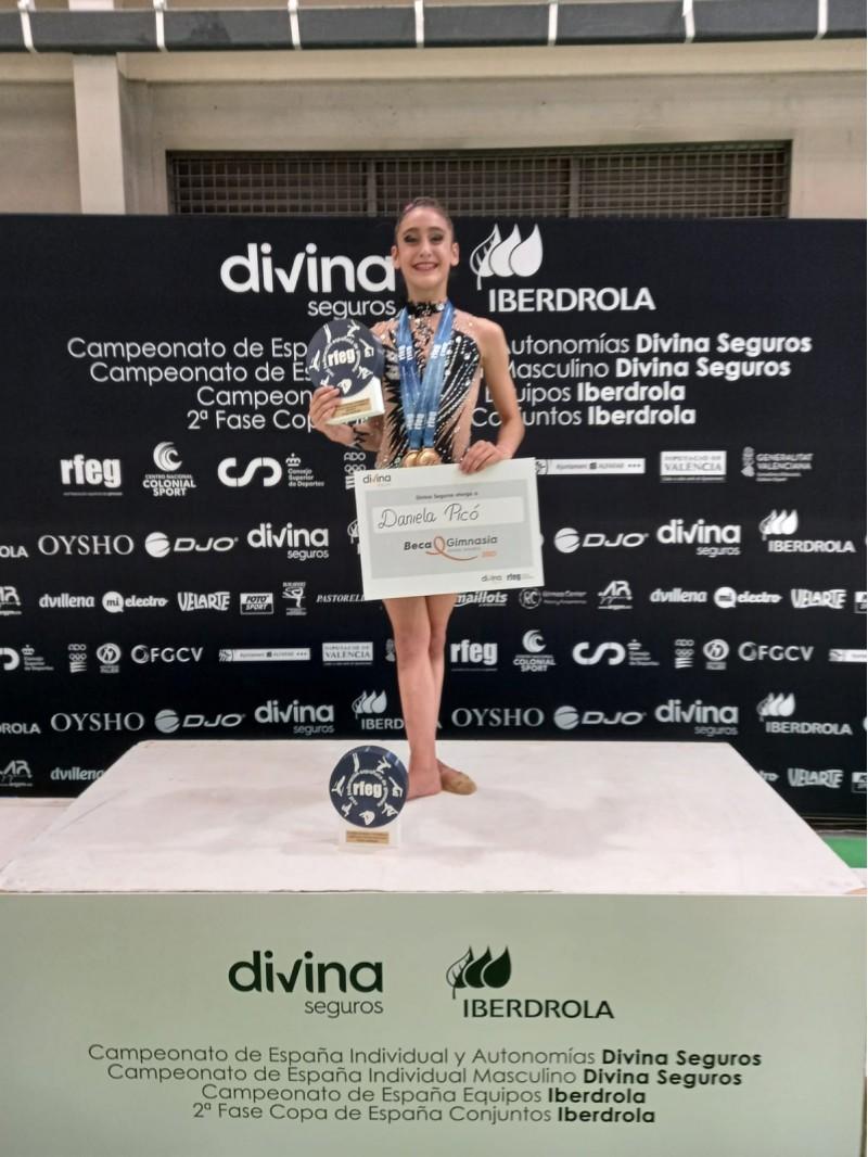 Daniela Picó, gimnasta del CGR Alcoi