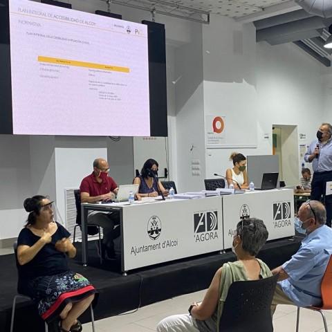 Reunió del Pla d'Accessibilitat a l'Àgora / Ajuntament