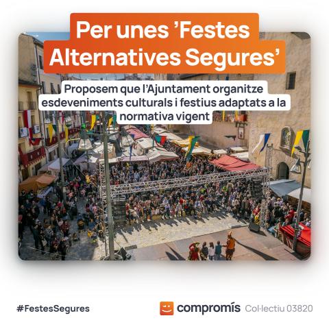 Col·lectiu - Compromís demana unes festes alternatives amb la presència d'artistes de Cocentaina