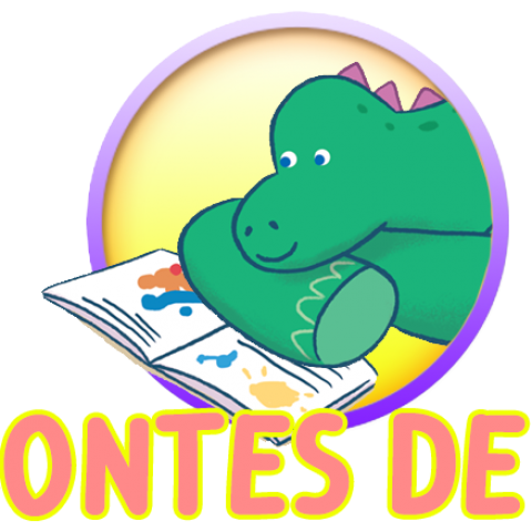 """Logo de l'App """"Els Contes de Dino"""""""