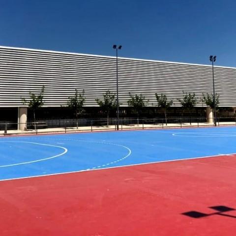 Pista central de futbol sala del Poliesportiu Municipal de Cocentaina