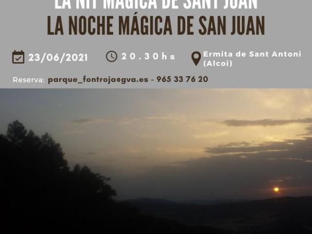 Excursió nocturna a la Font Roja per a celebrar la nit màgica de Sant Joan