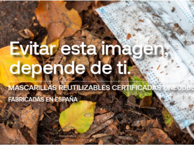 Empreses tèxtils animen a utilitzar mascaretes reutilitzables per evitar residus en el Medi Ambient