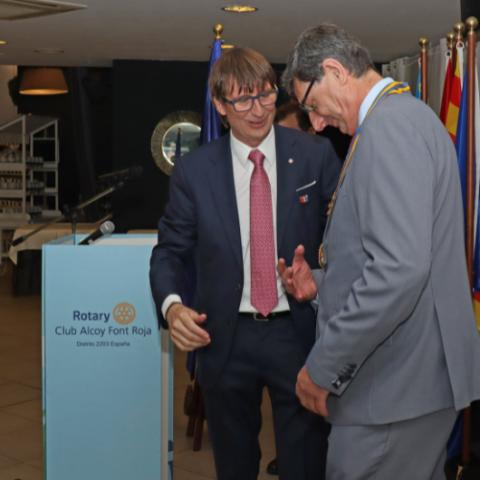 Canvi de presidents / Rotary