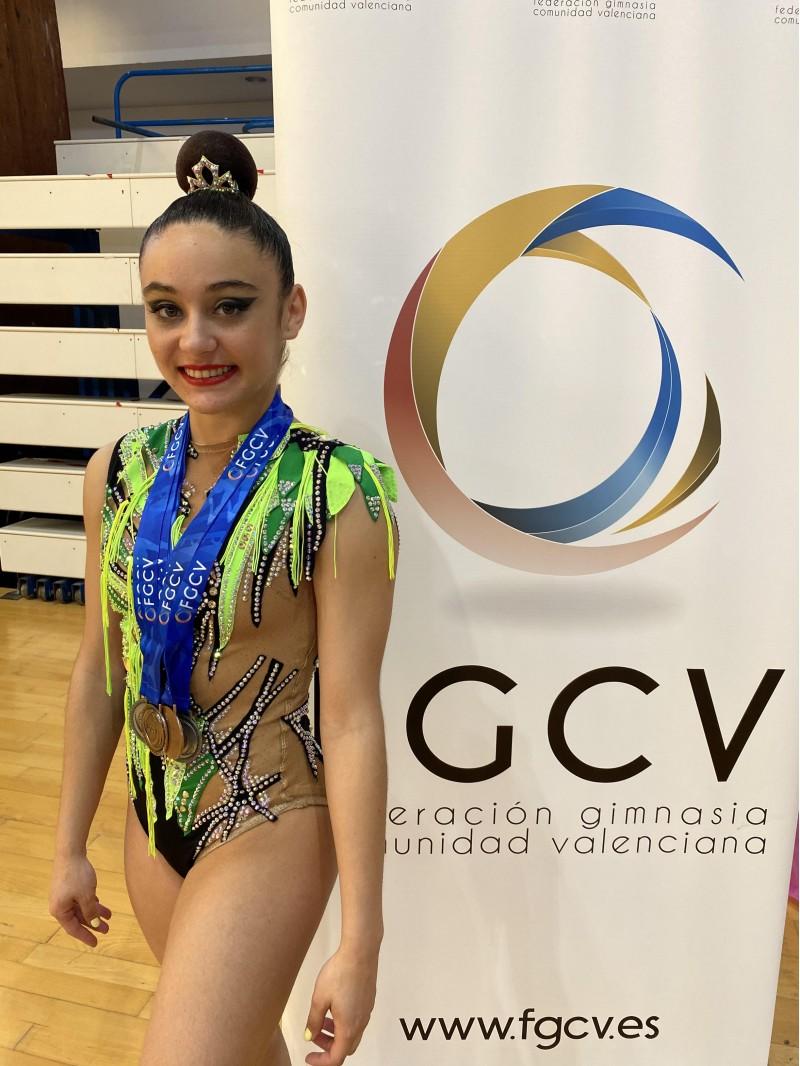 Elba Navarro, gimnasta del CGR Sant Jordi