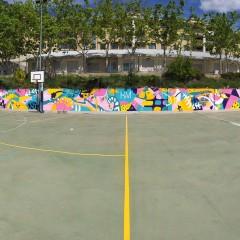 L'Horta Major llueix un nou mural pintat pels alumnes de l'EASDd'Alcoi