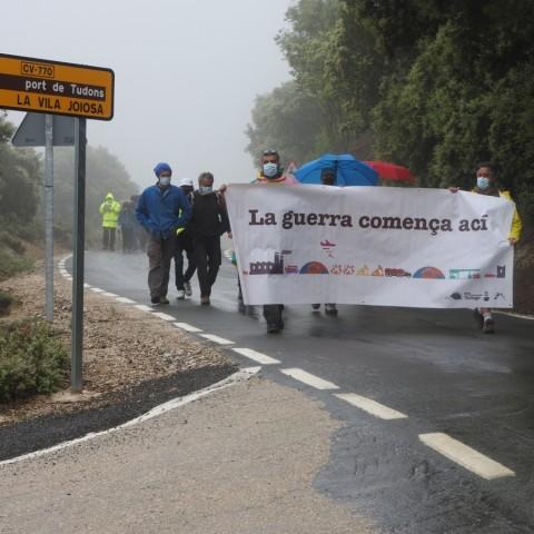 Torna la reivindicació antimilitarista a l'Aitana