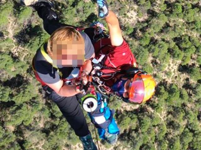 Rescat doble en helicòpter a Alcoi