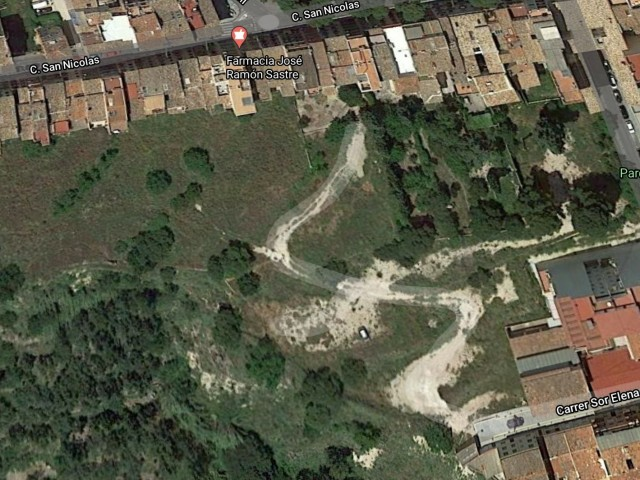 Zona on s'han comprat els terrenys, amb accés per Sor ElenaPicurelli.